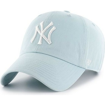 47 Brand Curved Brim New York Yankees MLB Clean Up Cap hellblau