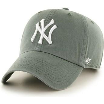 47 Brand Curved Brim New York Yankees MLB Clean Up Dark Cap grün