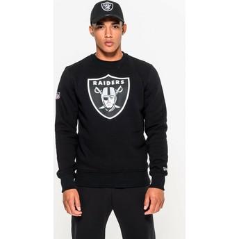 New Era Oakland Raiders NFL Crew Neck Sweatshirt schwarz