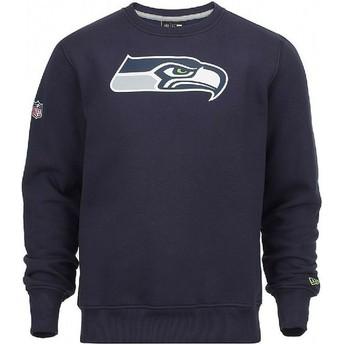 New Era Seattle Seahawks NFL Crew Neck Sweatshirt blau