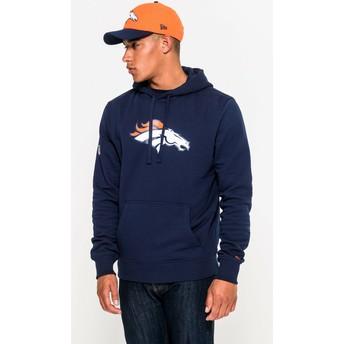 New Era Denver Broncos NFL Pullover Hoodie Kapuzenpullover Sweatshirt blau