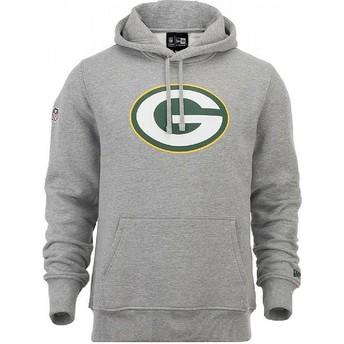 New Era Green Bay Packers NFL Pullover Hoodie Kapuzenpullover Sweatshirt grau