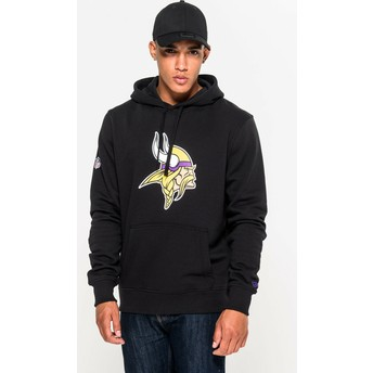 New Era Minnesota Vikings NFL Pullover Hoodie Kapuzenpullover Sweatshirt schwarz