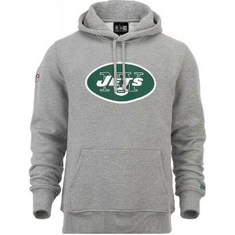 New Era New York Jets NFL Pullover Hoodie Kapuzenpullover Sweatshirt grau