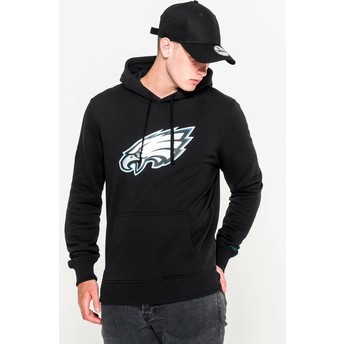 Sweat à capuche noir Pullover Hoodie Philadelphia Eagles NFL New Era