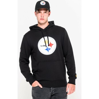 New Era Pittsburgh Steelers NFL Pullover Hoodie Kapuzenpullover Sweatshirt schwarz