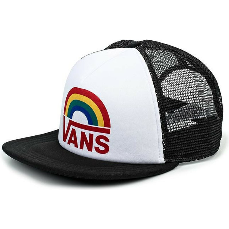 casquette-trucker-blanche-lawn-party-rainbow-vans