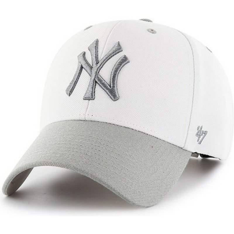 casquette-courbee-blanche-new-york-yankees-mlb-audible-2-tone-mvp-47-brand