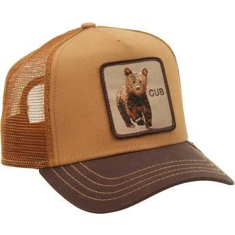 Cappellino trucker marrone orsetto Cub di Goorin Bros.