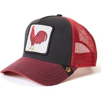 Goorin Bros. Rooster Barnyard King Trucker Cap rot und schwarz