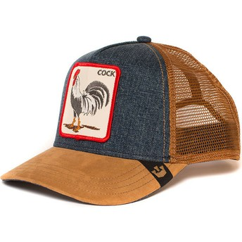 Casquette trucker marron et denim coq Big Strut Goorin Bros.