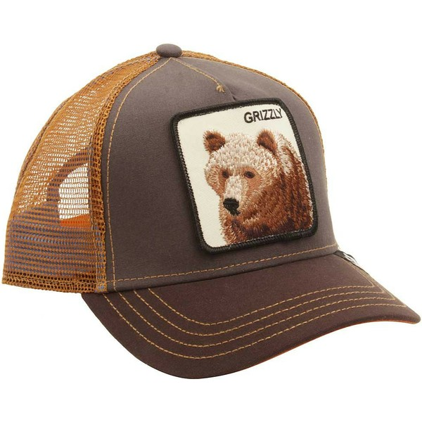 casquette-trucker-marron-ours-grizz-goorin-bros