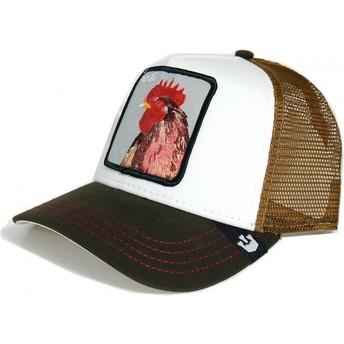 Goorin Bros. Rooster Peck Peck Trucker Cap gelb und weiß