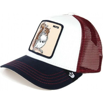 Cappellino trucker bianco e rosso scoiattolo Bonkers di Goorin Bros.