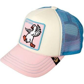 Casquette trucker rose et bleue pour enfant oie Silly Goose Goorin Bros.