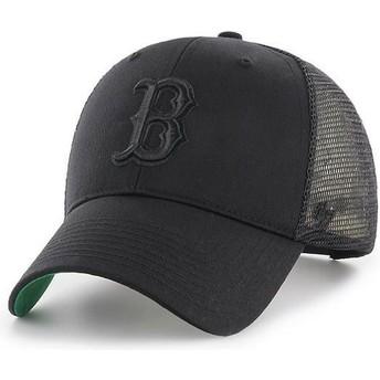 47 Brand Schwarzes Logo Boston Red Sox MLB MVP Branson Trucker Cap schwarz