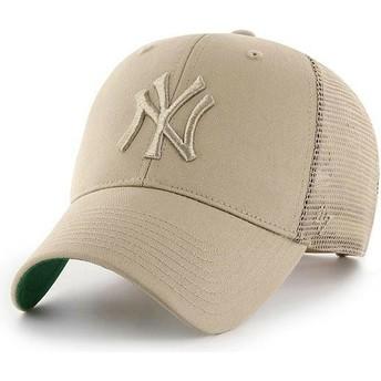 47 Brand Beiges Logo New York Yankees MLB MVP Branson beige Trucker Cap
