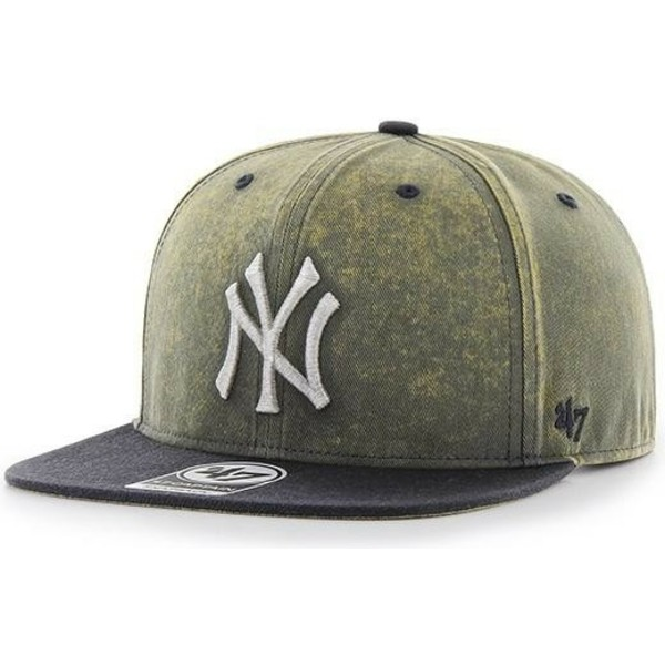 casquette-plate-bleue-marine-new-york-yankees-mlb-captain-cement-47-brand