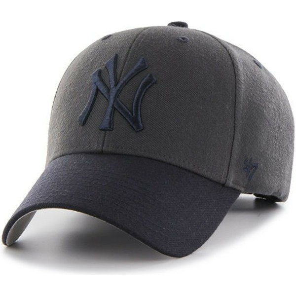 casquette-courbee-noire-new-york-yankees-mlb-mvp-audible-2-tone-47-brand