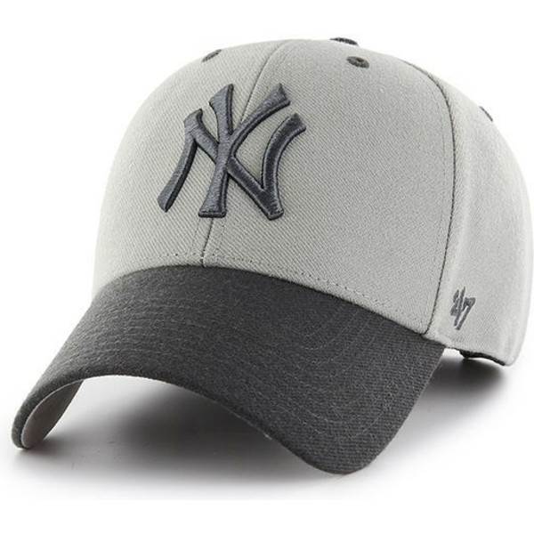 casquette-courbee-grise-new-york-yankees-mlb-mvp-audible-2-tone-47-brand