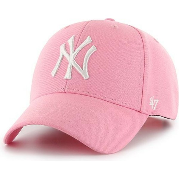 casquette-courbee-rose-snapback-new-york-yankees-mlb-mvp-47-brand
