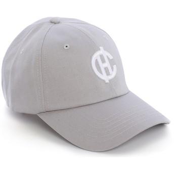 Caphunters Curved Brim CH Logo Aspen Cap grau