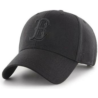 Casquette courbée noire snapback avec logo noir Boston Red Sox MLB MVP 47 Brand