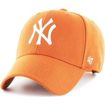 Casquette courbée orange snapback New York Yankees MLB MVP 47 Brand