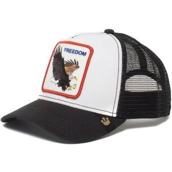 Cappellino trucker bianco Aquila Freedom di Goorin Bros.