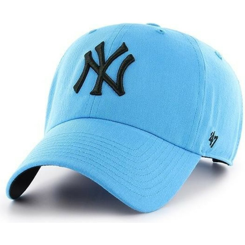 casquette-courbee-bleue-new-york-yankees-mlb-clean-up-neon-47-brand