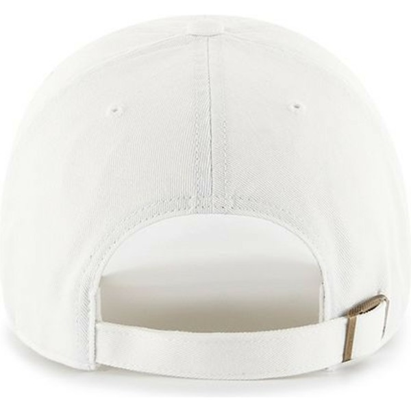 casquette-courbee-blanche-avec-logo-rose-los-angeles-dodgers-mlb-clean-up-47-brand