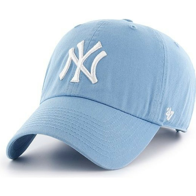 casquette-courbee-bleue-columbia-new-york-yankees-mlb-clean-up-47-brand