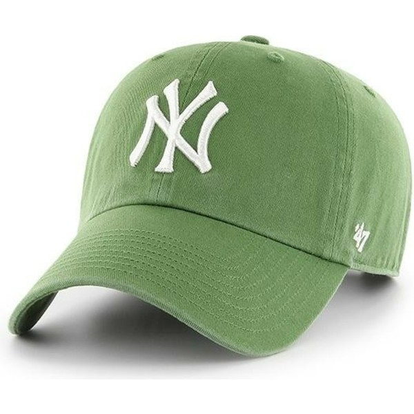 casquette-courbee-verte-fern-new-york-yankees-mlb-clean-up-47-brand