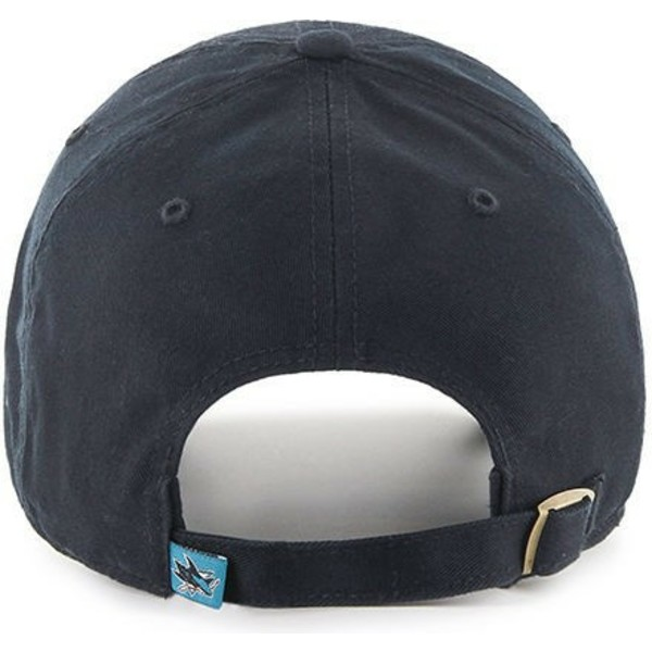 casquette-courbee-noire-san-jose-sharks-nhl-clean-up-47-brand