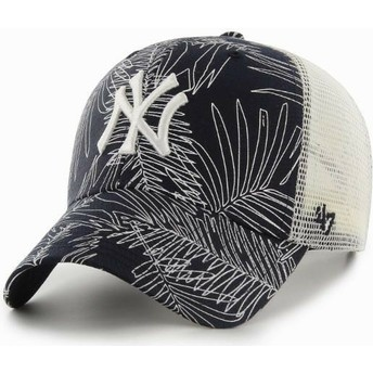 Casquette trucker bleue marine New York Yankees MLB MVP Palma 47 Brand