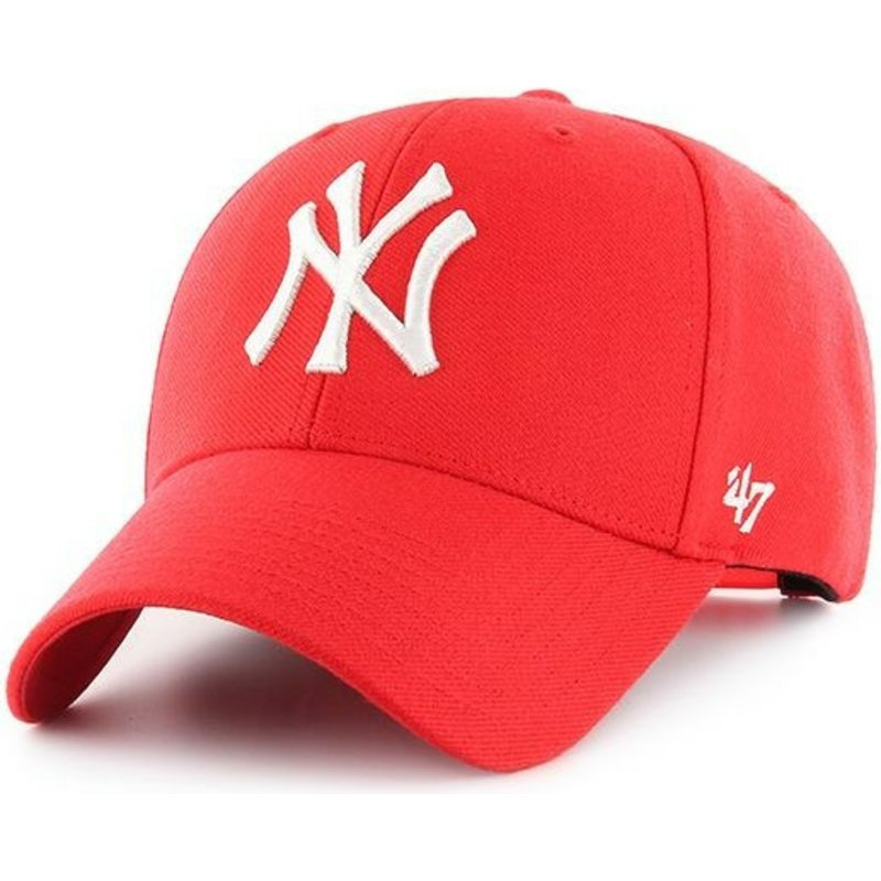 casquette-courbee-rouge-snapback-new-york-yankees-mlb-mvp-47-brand