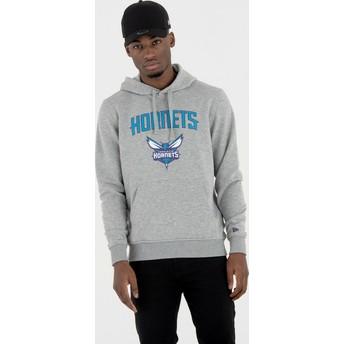 New Era Charlotte Hornets NBA Pullover Hoodie Kapuzenpullover Sweatshirt grau