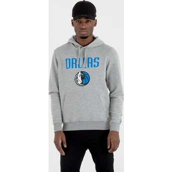 Sweat à capuche gris Pullover Hoody Dallas Mavericks NBA New Era