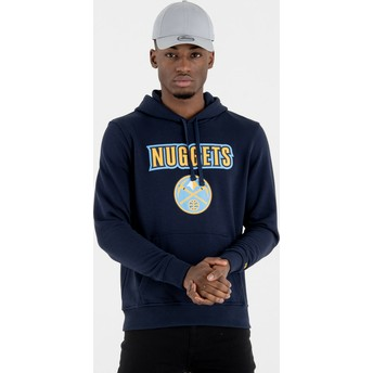 New Era Denver Nuggets NBA Pullover Hoodie Kapuzenpullover Sweatshirt marineblau