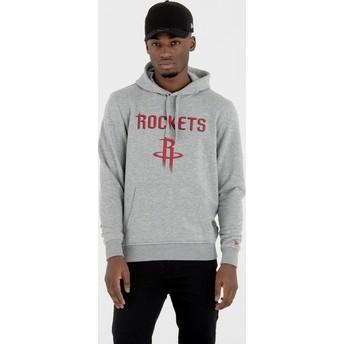 New Era Houston Rockets NBA Pullover Hoodie Kapuzenpullover Sweatshirt grau