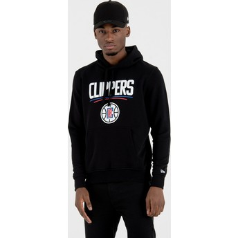 New Era Los Angeles Clippers NBA Pullover Hoodie Kapuzenpullover Sweatshirt schwarz
