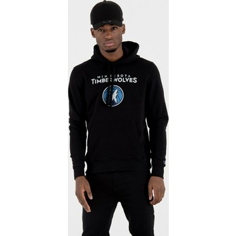 New Era Minnesota Timberwolves NBA Pullover Hoodie Kapuzenpullover Sweatshirt schwarz