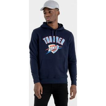 New Era Oklahoma City Thunder NBA Pullover Hoodie Kapuzenpullover Sweatshirt marineblau