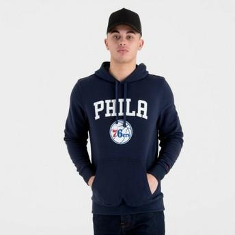 Sweat à capuche bleu marine Pullover Hoody Philadelphia 76ers NBA New Era