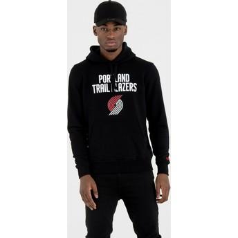 New Era Portland Trail Blazers NBA Pullover Hoodie Kapuzenpullover Sweatshirt schwarz