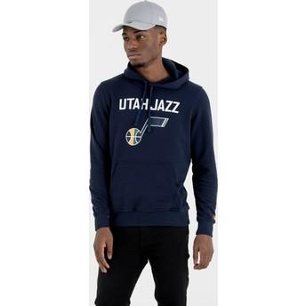 New Era Utah Jazz NBA Pullover Hoodie Kapuzenpullover Sweatshirt marineblau