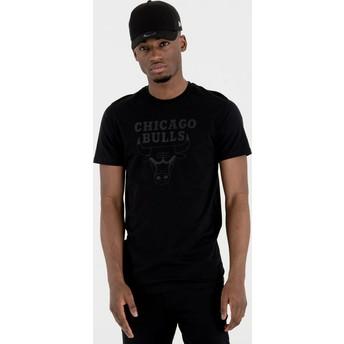 New Era Schwarzem Logo Chicago Bulls NBA T-Shirt schwarz