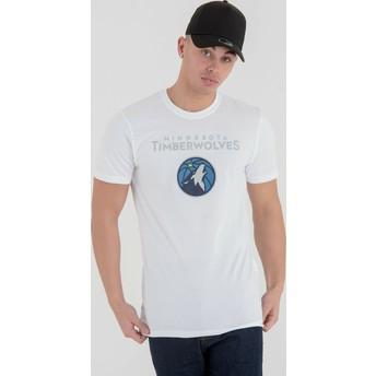 T-shirt à manche courte blanc Minnesota Timberwolves NBA New Era