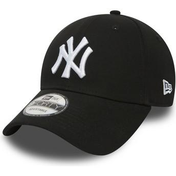 Cappellino visiera curva nero regolabile 9FORTY Essential di New York Yankees MLB di New Era