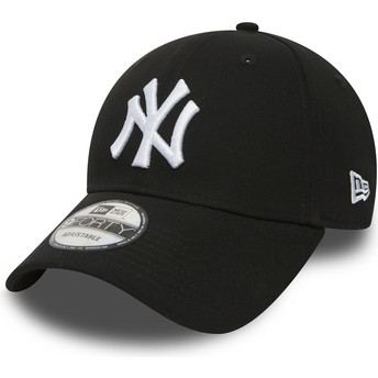 New Era Curved Brim 9FORTY Essential New York Yankees MLB Adjustable Cap schwarz